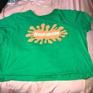Nickelodeon crop top shirt
